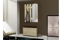 Garderoba AB-8 z lustrem i szafką na obuwie