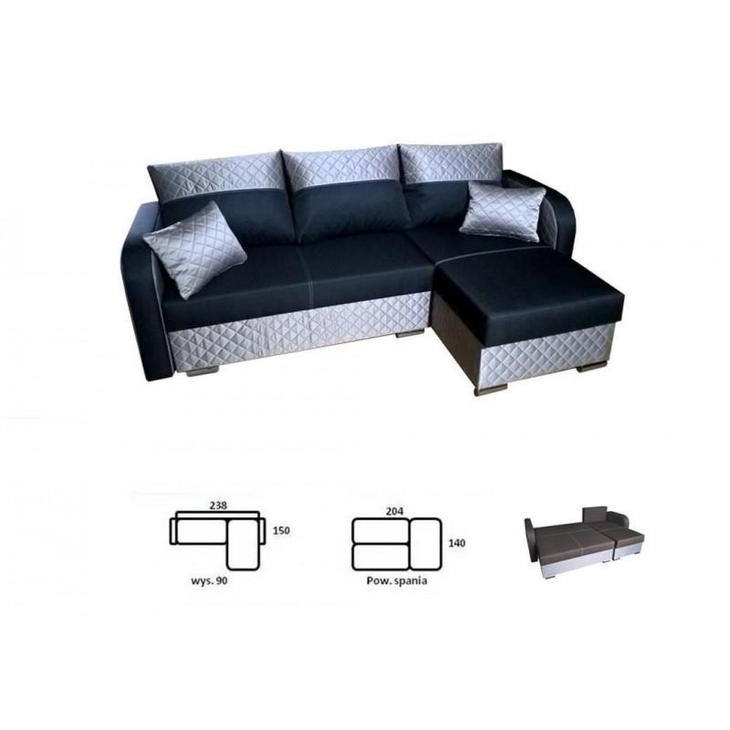 ausklappbares ecksofa bazyl sofa f r das wohnzimmer ebay. Black Bedroom Furniture Sets. Home Design Ideas