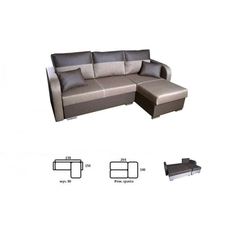ausklappbares ecksofa bazyl sofa f r das wohnzimmer ebay. Black Bedroom Furniture Sets. Home Design Ideas