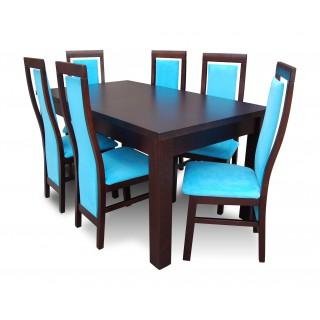 RM-zestaw 06 z drewna bukowego rozkładany stół z krzesłami