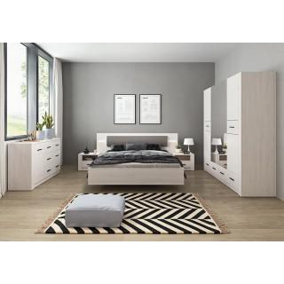 Łóżko sypialniane DERSA 160 LED sypialnia systemow