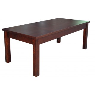 Stół RS-24 rozkładany 90x90x210 drewno bukowe fornirowane orzech
