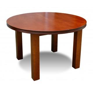 Stół RS-33 okrągły rozkładany drewno bukowe fornirowane kasztan