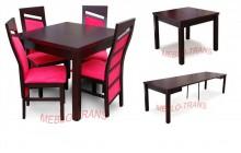 RM-zestaw 02 z drewna bukowego rozkładany stół i 4 krzesła