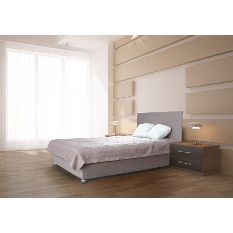 Łóżko tapicerowane do sypialni 140x200 z materacem