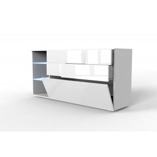 Komoda Oman XL LED biała...