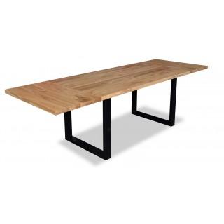 Stół rozkładany FLori dąb halifax loftowy metalowe nogi