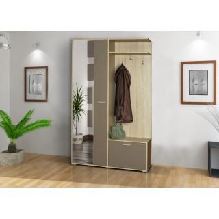 Garderoba Boss pojemna szafa oraz duże lustro
