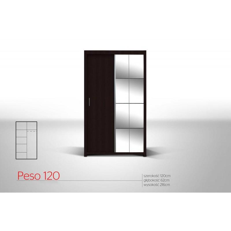 Szafa PESO przesuwna z lustrem