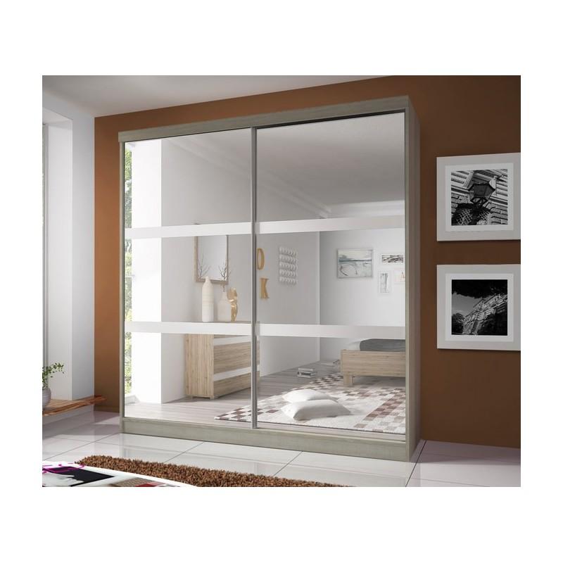 Szafa MULTI z dużym lustrem półkami i drązkiem