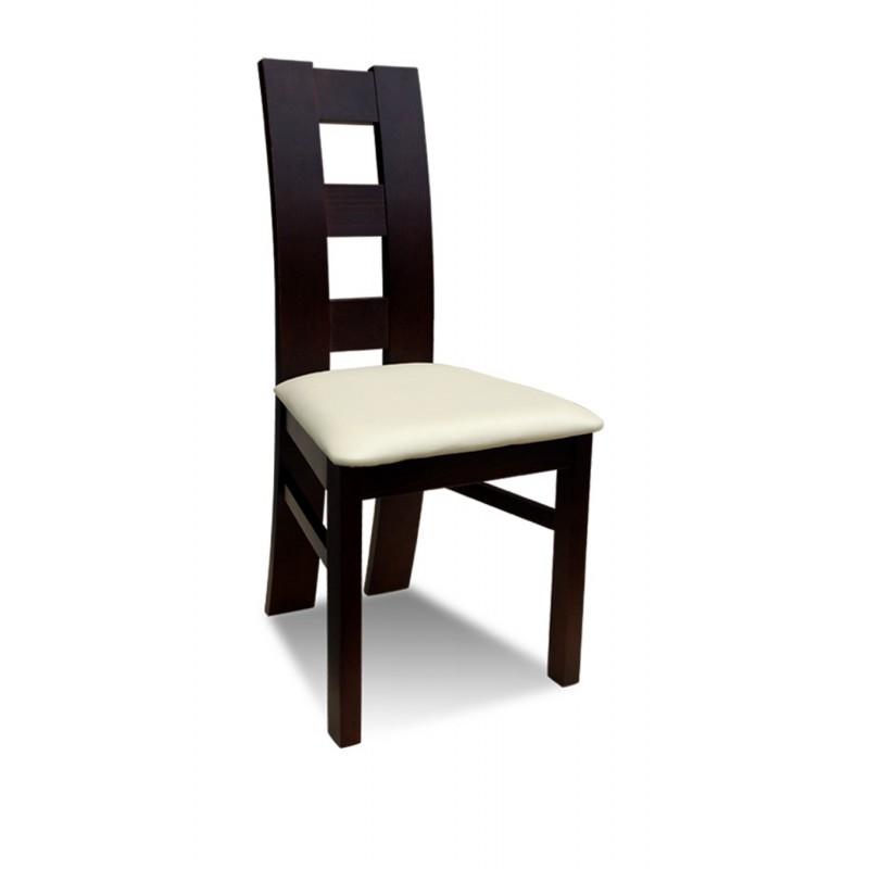 Krzesło RK-42 drewniane buk tapicerowane z czerwonym obiciem