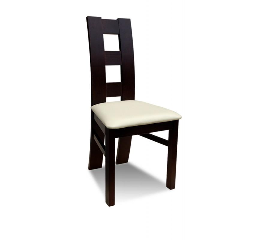 Krzesło Rk 42 Drewniane Buk Tapicerowane Z Czerwonym Obiciem