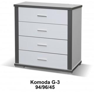 Komoda Grey 96 / 94 / 45 w białym matowym kolorze