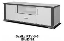 Stolik RTV Grey 53 / 154 / 45 w grafitowo - białym matowym kolorze
