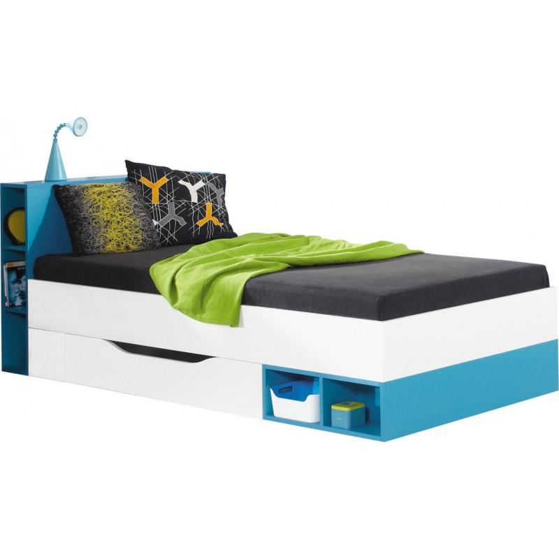Nowoczesne łóżko Młodzieżowe Z Szufladą I Półkami