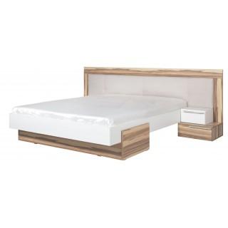 Łóżko tapicerowane + 2 stoliki nocne