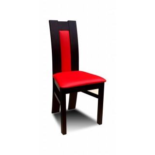 Krzesło RK-41 drewniane buk wenge tapicerowane z czerwonym obiciem