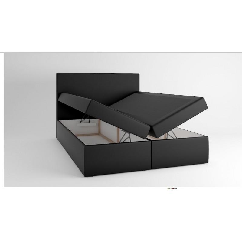 łóżko Kontynentalne 140x200 Z Pojemnikiem Tapicerowane