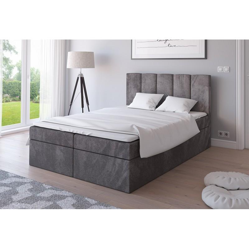 łóżko 140x200 Tola Tapicerowane Z Materacem