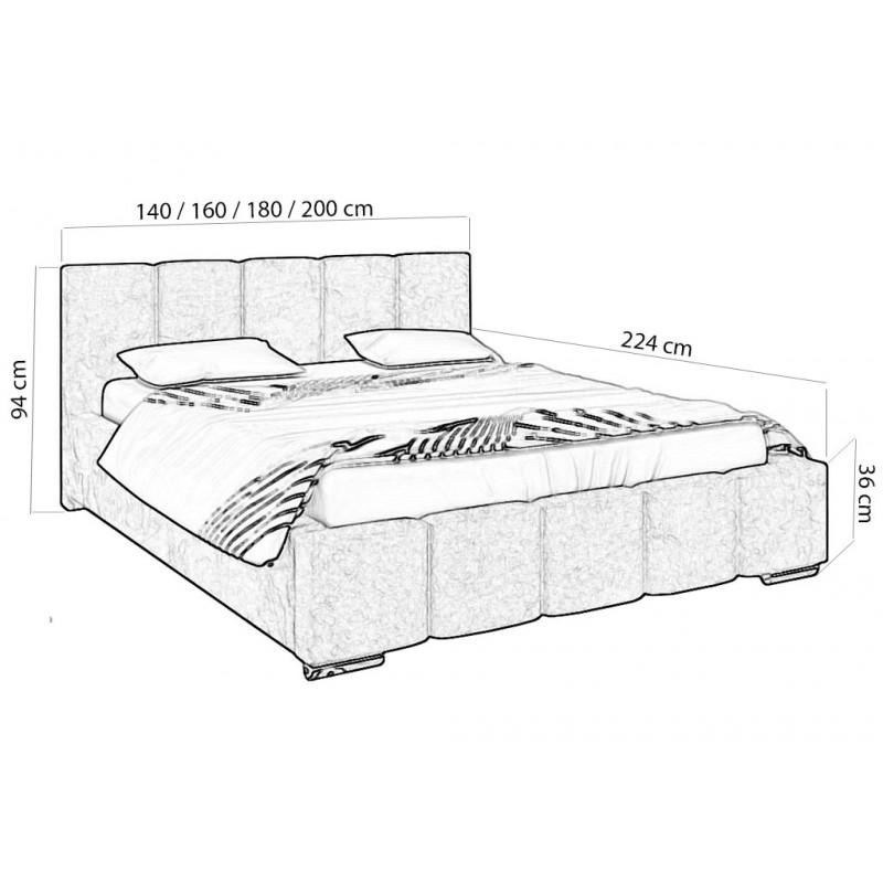 Duże łóżko Sypialniane 180x200 Pojemnik