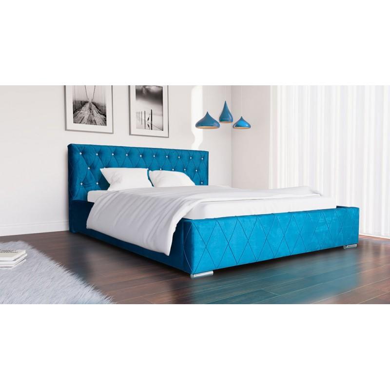 łóżko Nowoczesne 160x200 Stelaż Pojemnik