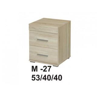 Stolik nocny MARINO dwie szuflady