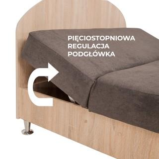ŁÓŻKO MILANO Z MATERACEM 140x200