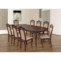 Osiem krzeseł i stół rozkładany