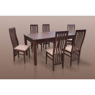 krzesła profilowane i stół rozkładany do jadalni